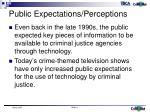 public expectations perceptions