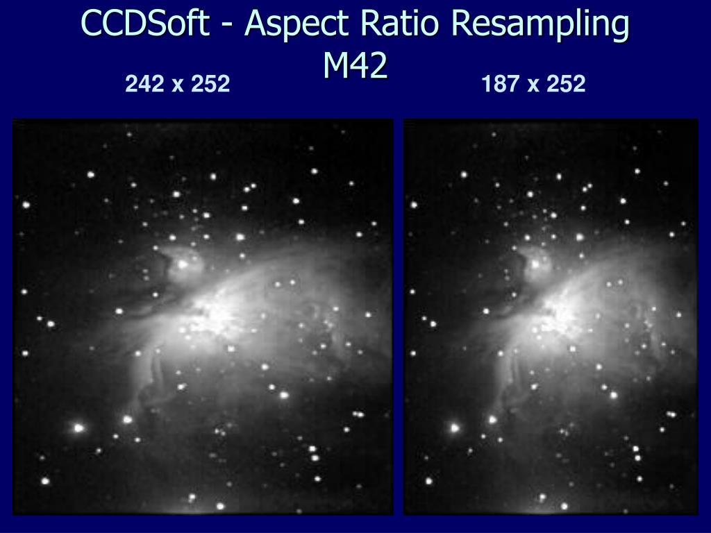 CCDSoft - Aspect Ratio Resampling