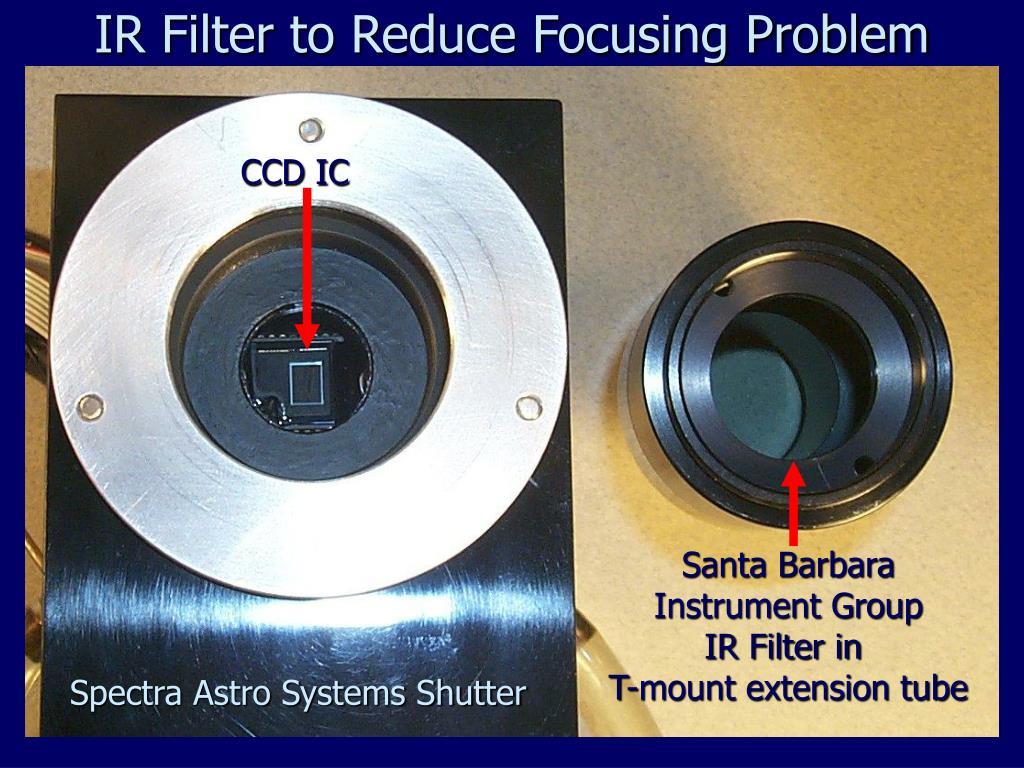 IR Filter to Reduce Focusing Problem