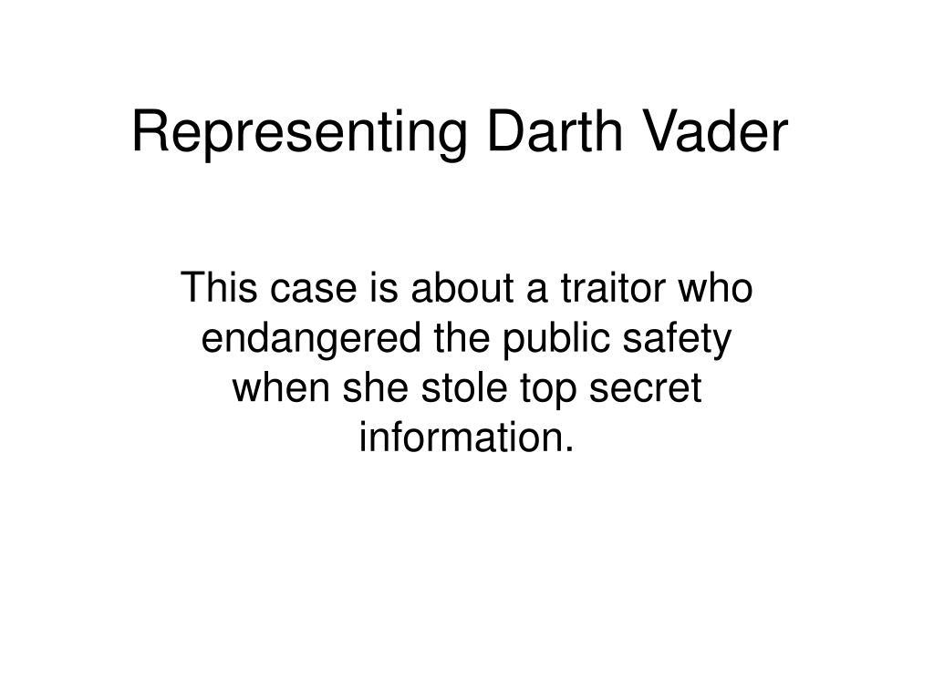 Representing Darth Vader