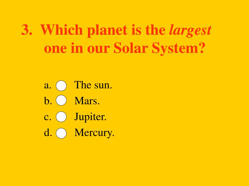 3.  Which planet is the