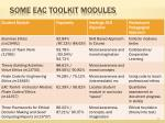 some eac toolkit modules