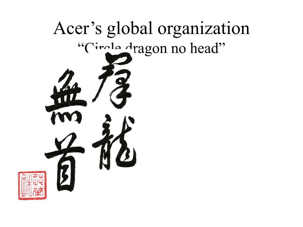 Acer's global organization