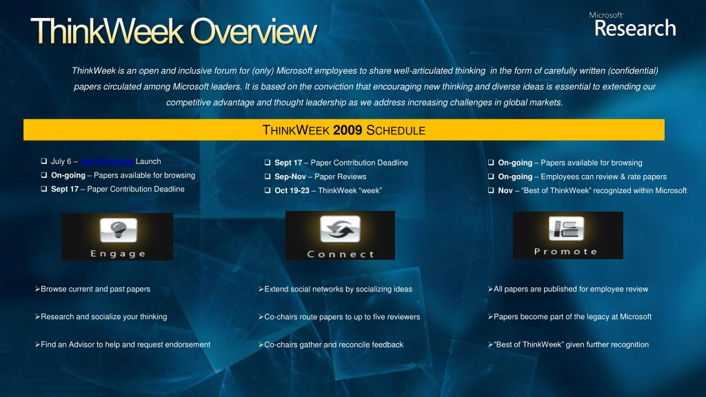 ThinkWeek Overview