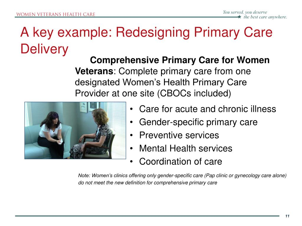 A key example: Redesigning Primary Care Delivery
