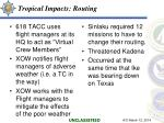 tropical impacts routing