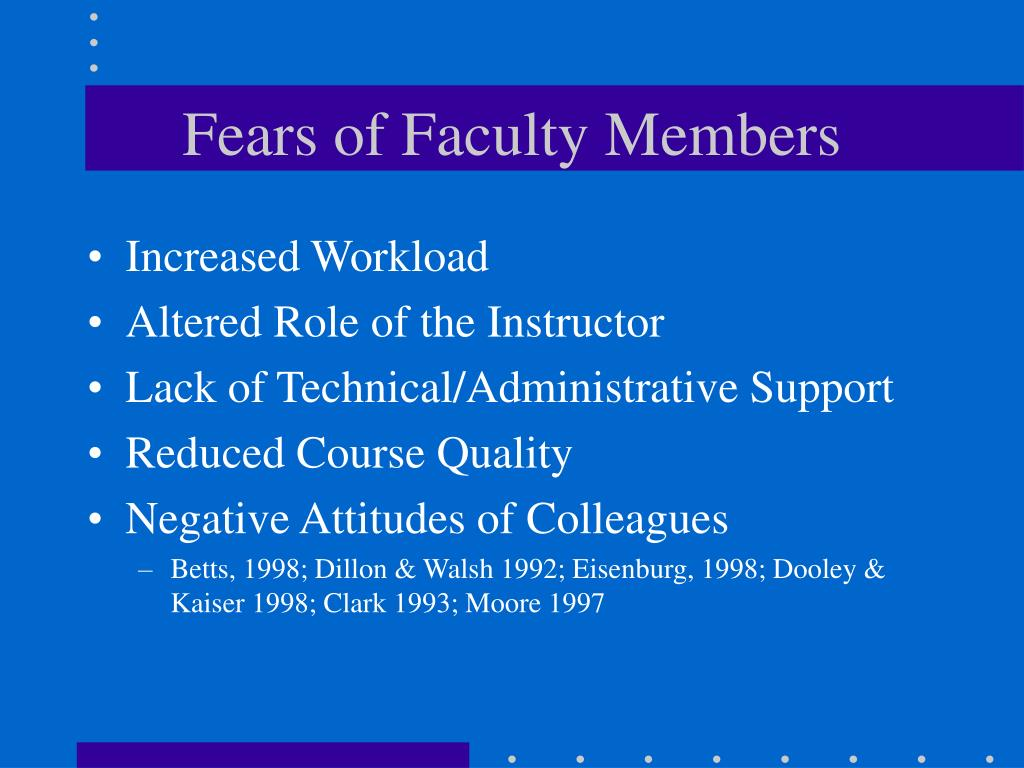 Fears of Faculty Members