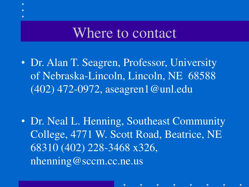 Where to contact