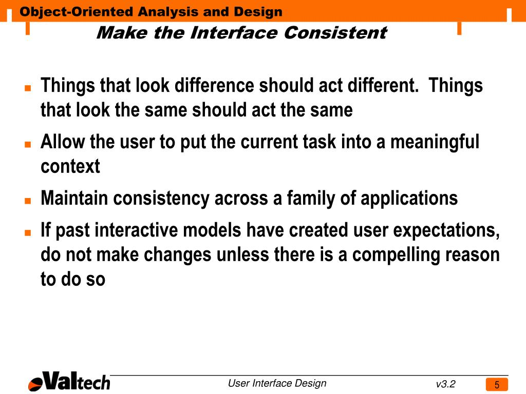 Make the Interface Consistent