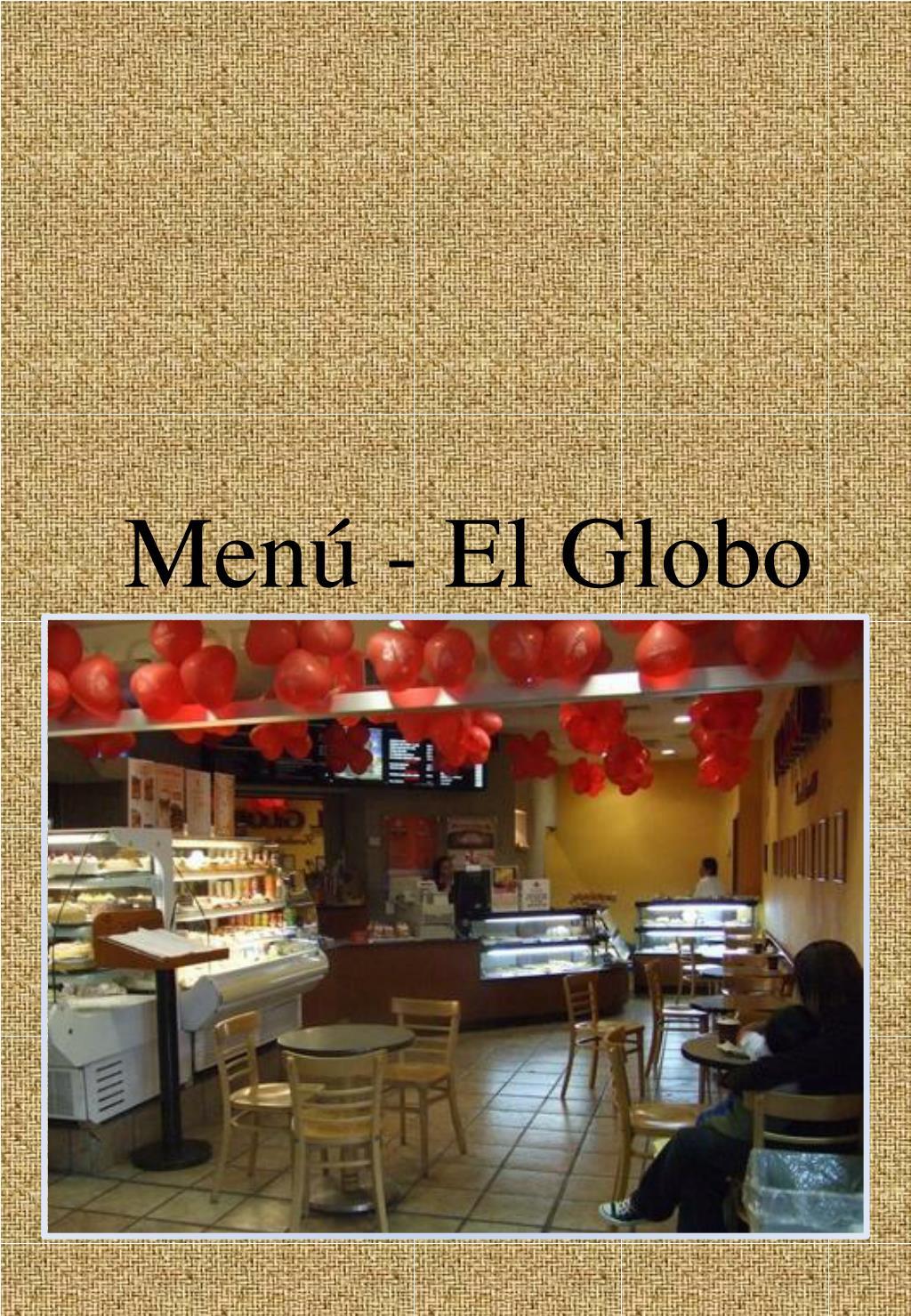 Menú - El Globo