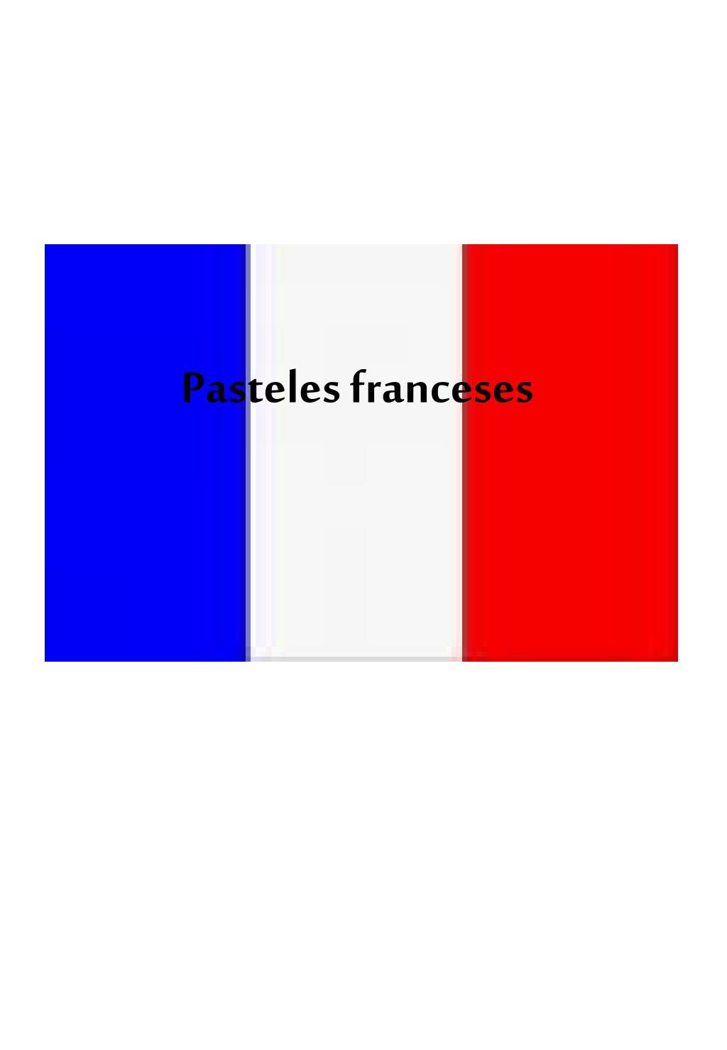 Pasteles franceses