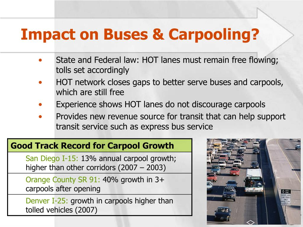 Impact on Buses & Carpooling?