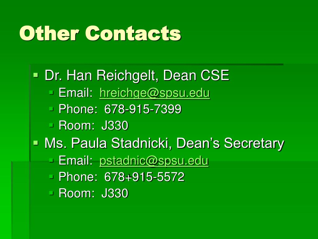 Other Contacts