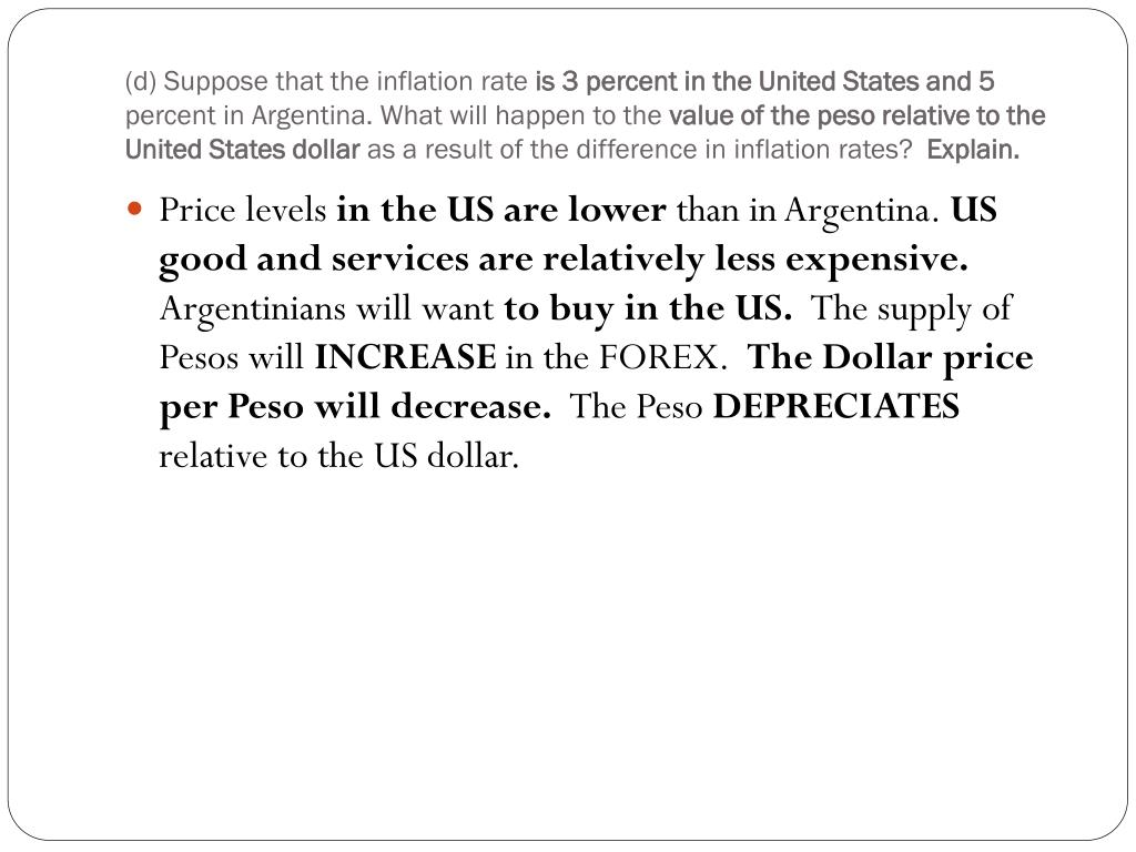 (d) Suppose that the inflation rate