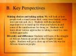 b key perspectives