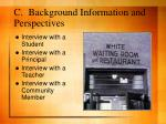 c background information and perspectives