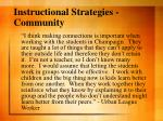instructional strategies community