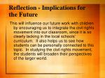 reflection implications for the future