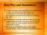 role play and simulations