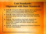 unit standards alignment with state standards