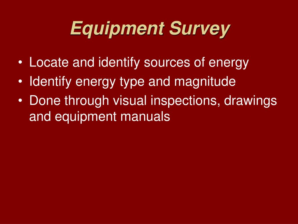 Equipment Survey