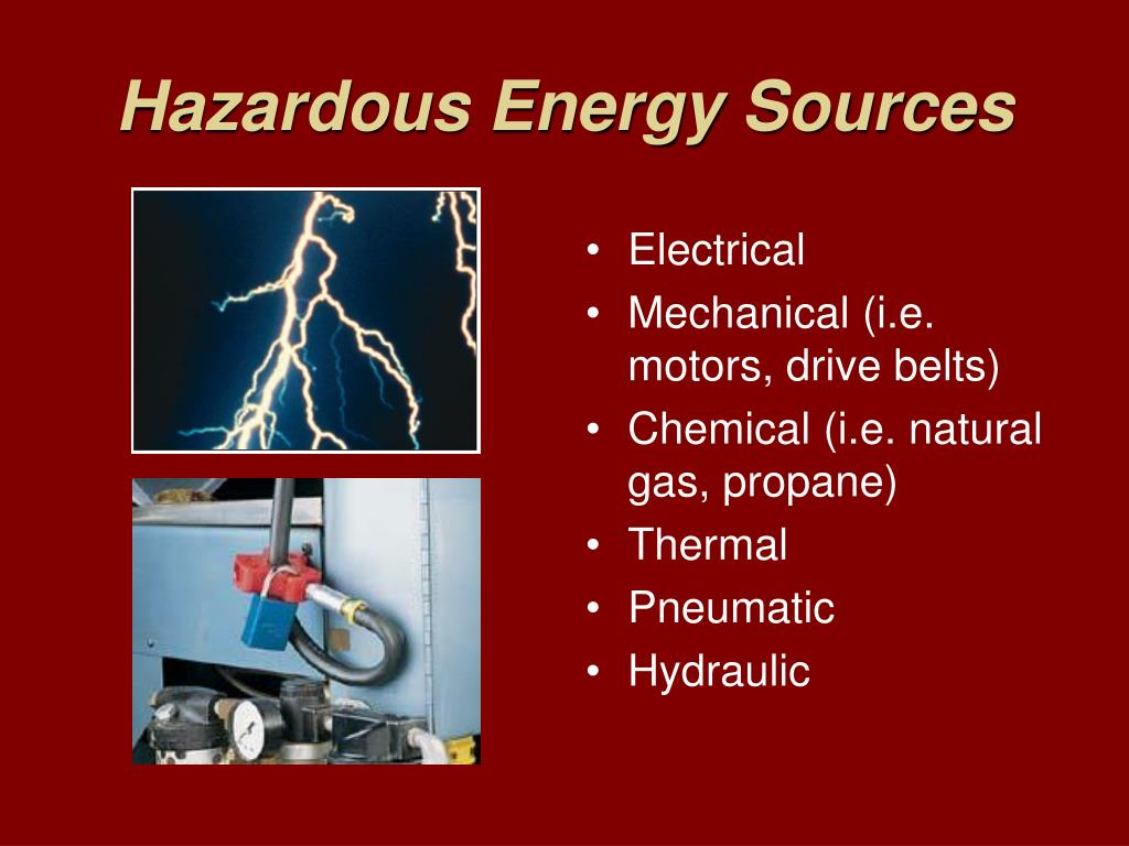 Hazardous Energy Sources