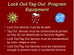 lock out tag out program equipment12