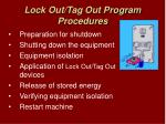lock out tag out program procedures