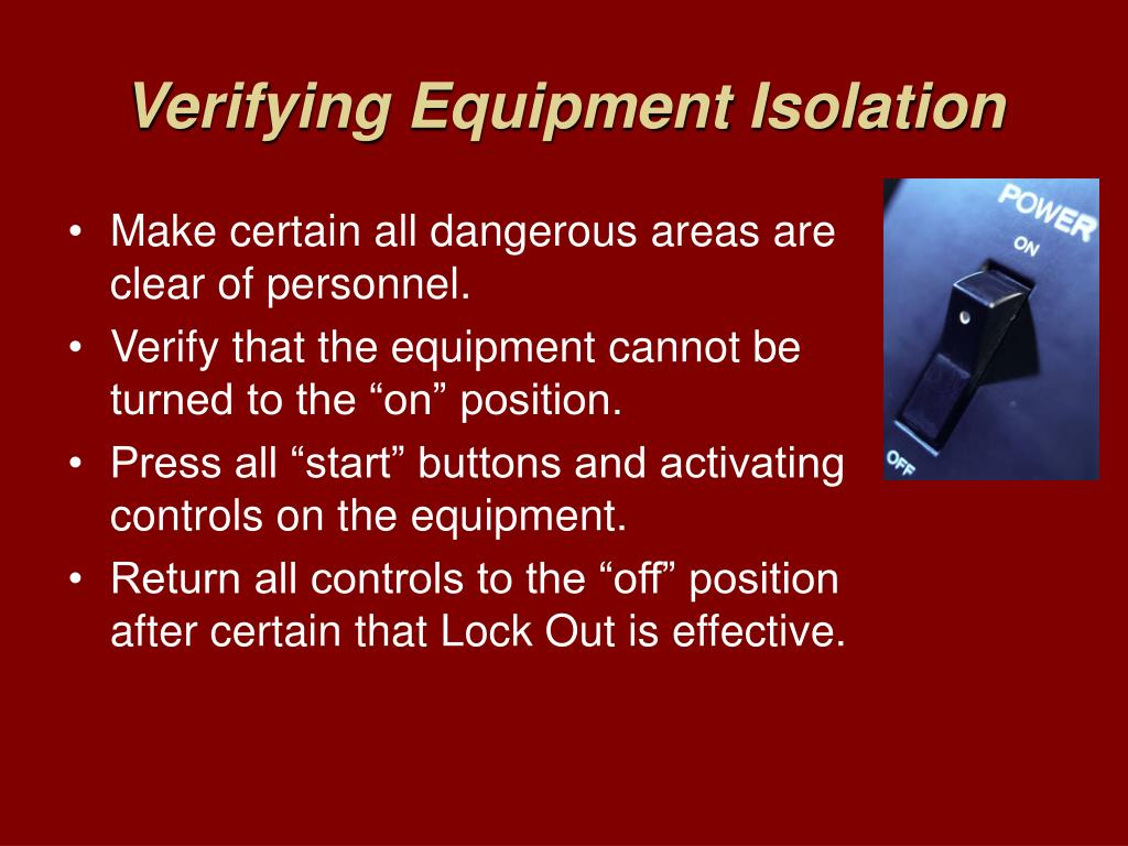 Verifying Equipment Isolation