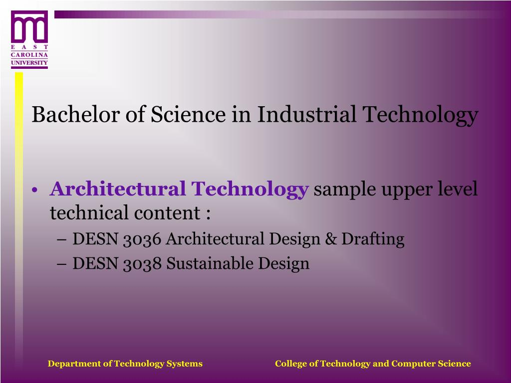 Bachelor of Science in Industrial Technology