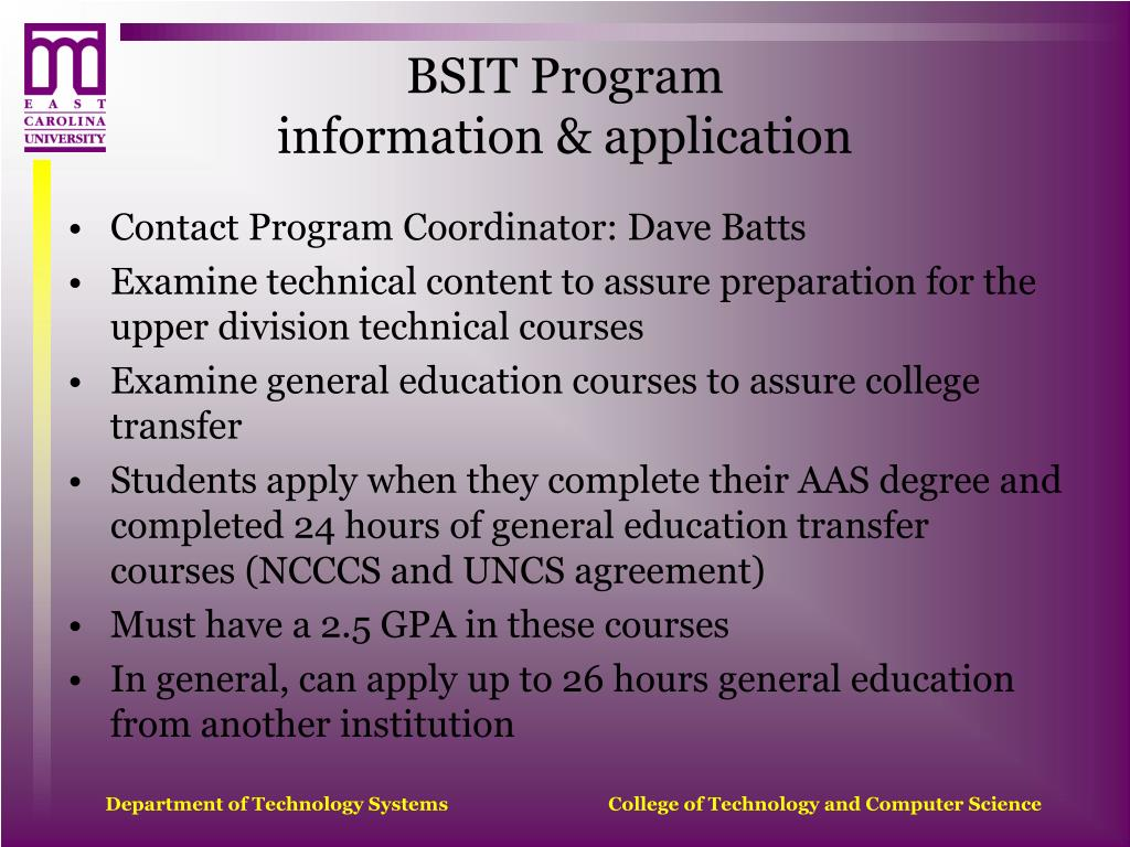 BSIT Program