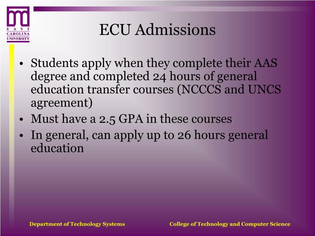 ECU Admissions