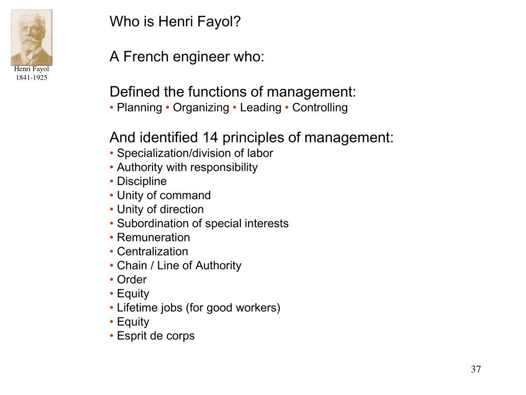 Who is Henri Fayol?