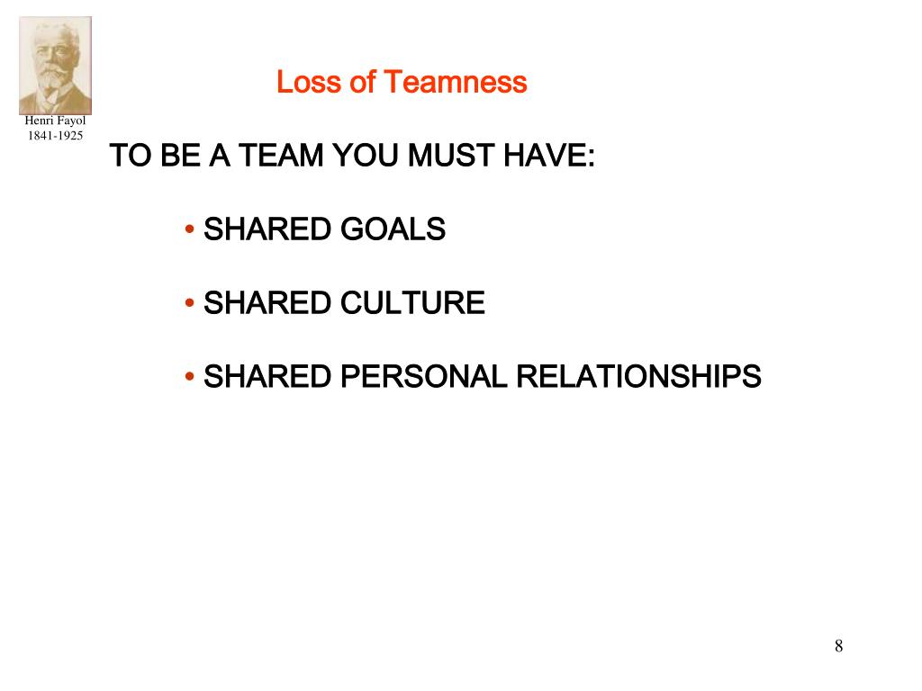 Loss of Teamness