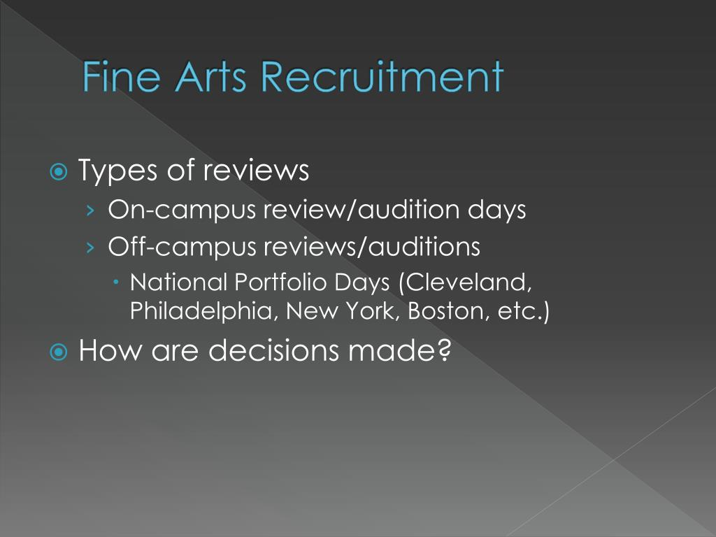 Fine Arts Recruitment