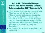 c 324 98 telaustria verlags gmbh and telefonadress gmbh v telekom austria ag teleaustria