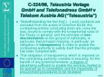 c 324 98 telaustria verlags gmbh and telefonadress gmbh v telekom austria ag teleaustria6
