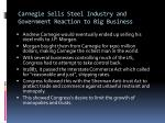 carnegie sells steel industry and government reaction to big business