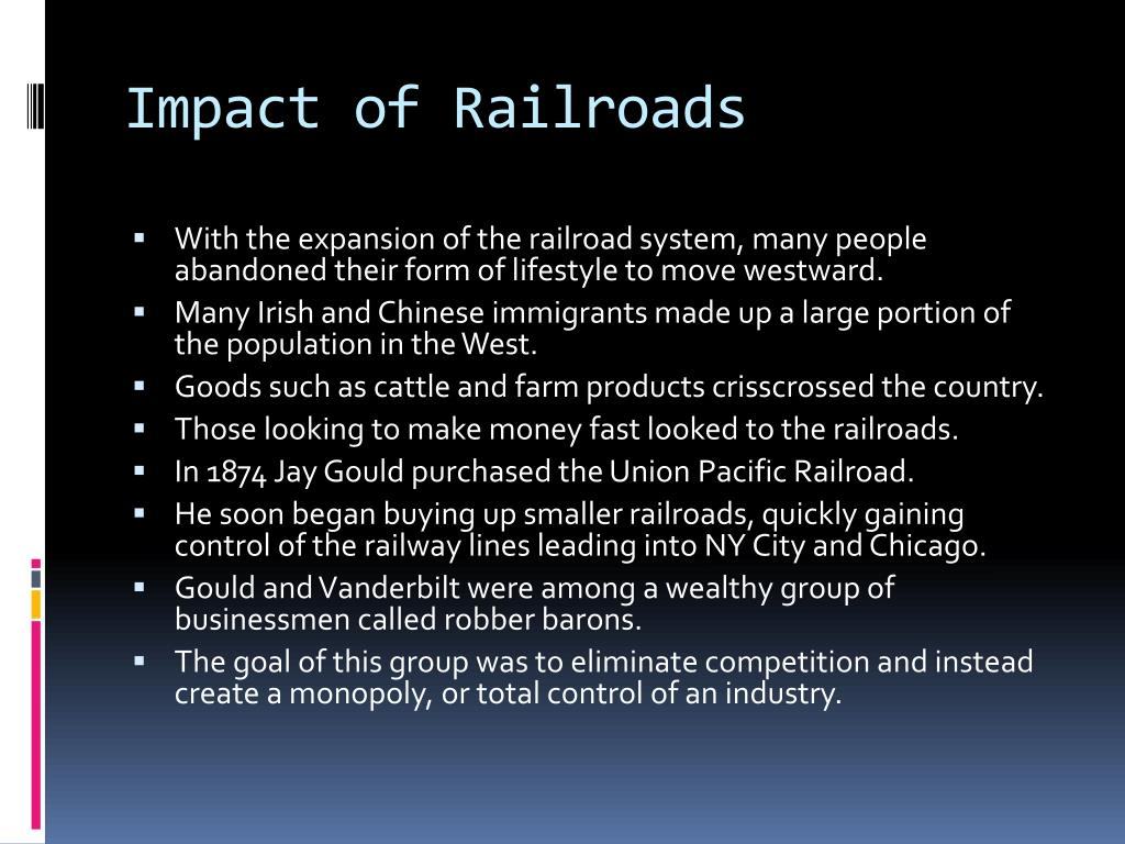 Impact of Railroads