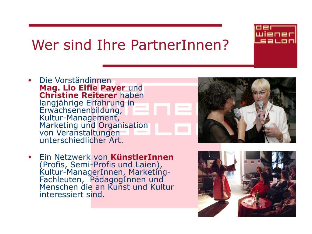 Wer sind Ihre PartnerInnen?