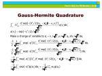 gauss hermite quadrature