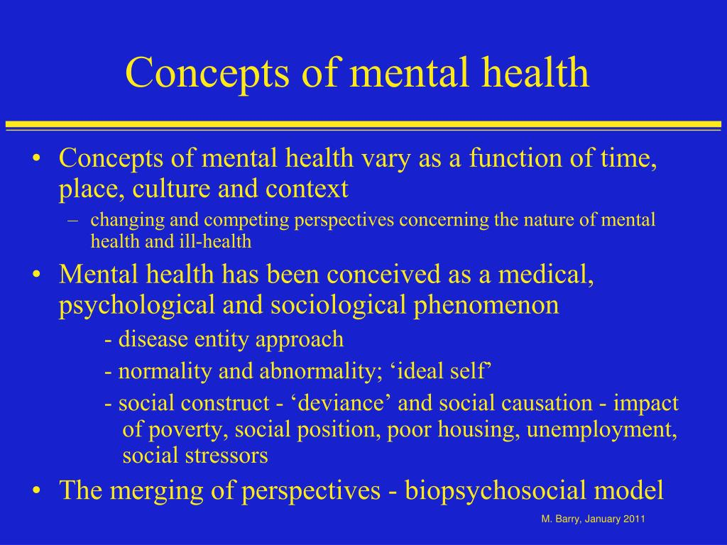 Toward a new definition of mental health