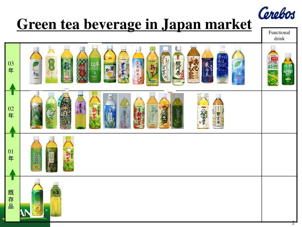 Green tea beverage in Japan market
