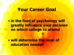 your career goal