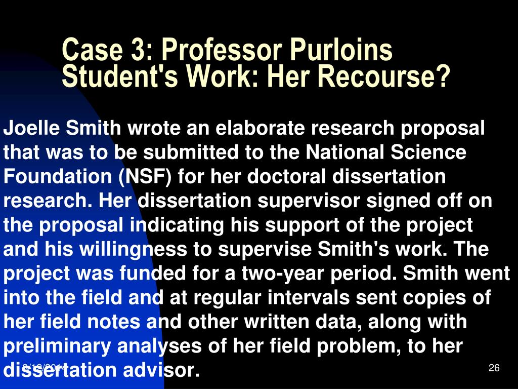 Case 3: Professor Purloins Student's Work: Her Recourse?