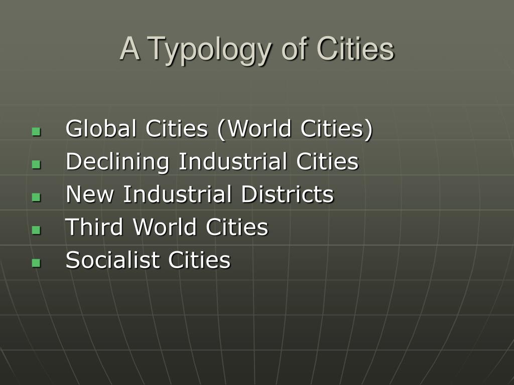 A Typology of Cities
