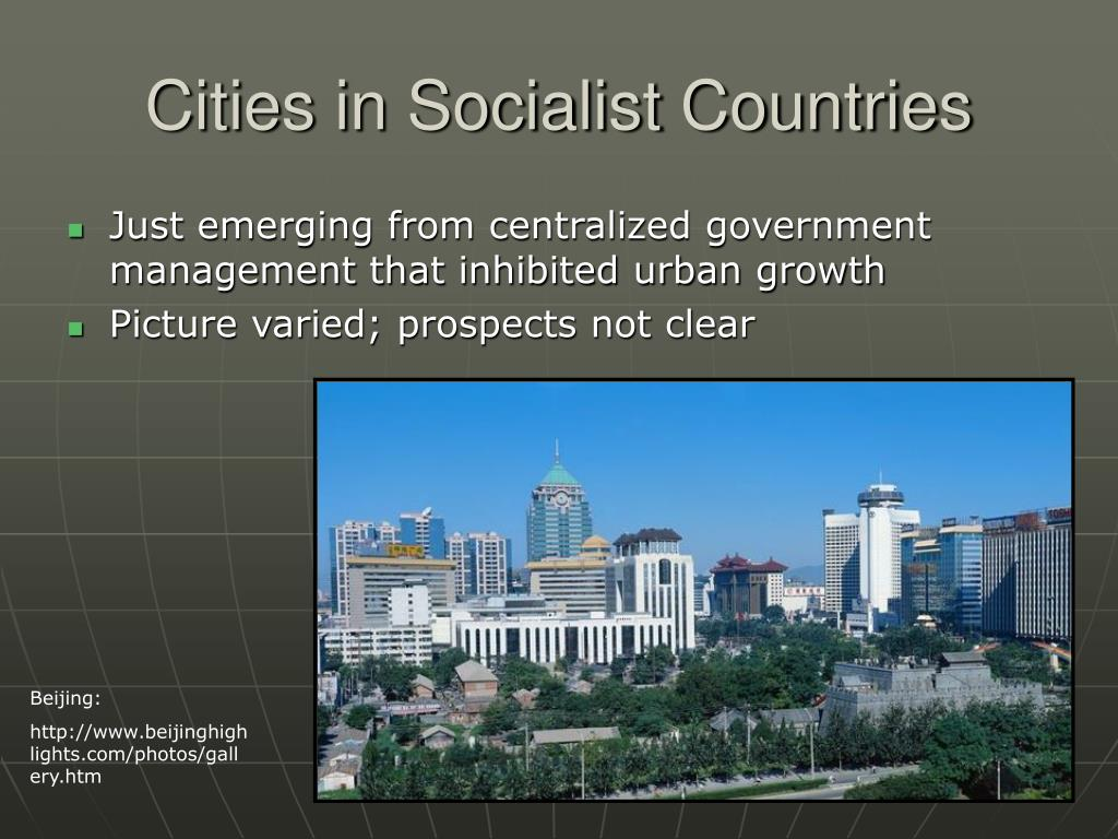 Cities in Socialist Countries