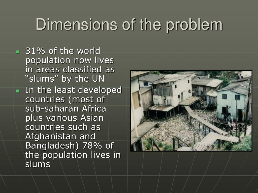 Dimensions of the problem