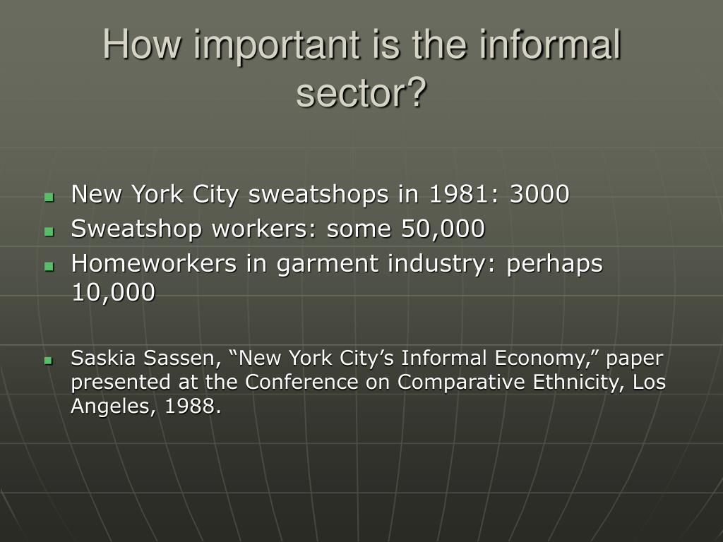 How important is the informal sector?