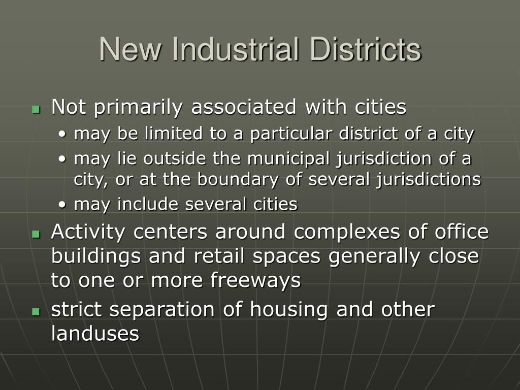 New Industrial Districts